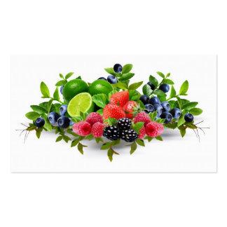 Fruta Plantillas De Tarjetas Personales