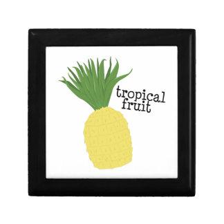 Fruta tropical cajas de recuerdo