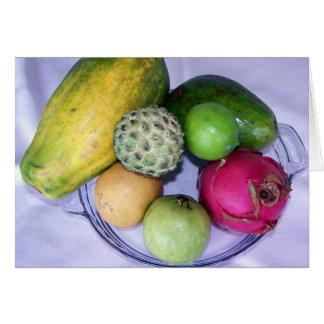 Fruta tropical de la isla del pino tarjeta pequeña