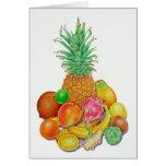 Fruta tropical tarjeta de felicitación