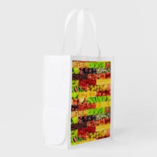 Fruta y bolso Re-Usable de Veg Bolsas De La Compra