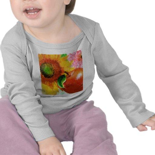 Fruta y flores camisetas