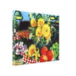 Fruta y flores lienzo envuelto para galerías