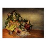 Fruta y flores postales