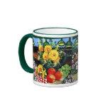 Fruta y flores taza