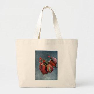 Fruta y hojas de otoño del Dogwood floreciente Bolsa De Mano