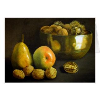 Fruta y nueces felicitacion