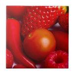 Fruta y teja de las verduras/Trivet rojos