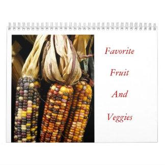 Fruta y Veggies preferidos Calendarios