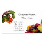 Fruta y verduras 2 tarjetas de visita