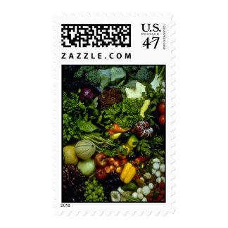 Fruta y verduras estampillas