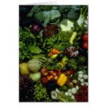 Fruta y verduras felicitación