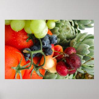 Fruta y verduras impresiones
