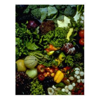 Fruta y verduras postales