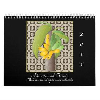 Frutas alimenticias, 2011, (con el Info Calendario