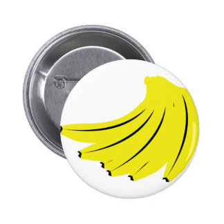 frutas amarillas de los plátanos pin redondo 5 cm