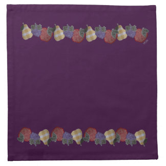 Frutas bordadas (púrpuras) servilletas