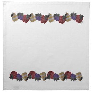 Frutas bordadas servilletas imprimidas