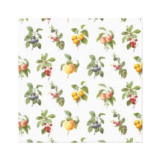 frutas botánicas del vintage moderno impresión en lona