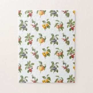 frutas botánicas del vintage moderno puzzles con fotos