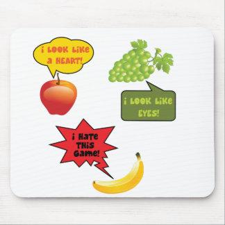 Frutas chiste, rabia del plátano alfombrilla de ratón