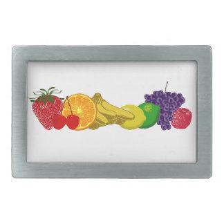 Frutas coloridas: hebilla de cinturon rectangular
