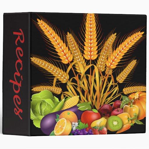 Frutas de la carpeta de la receta y diseño de Vege
