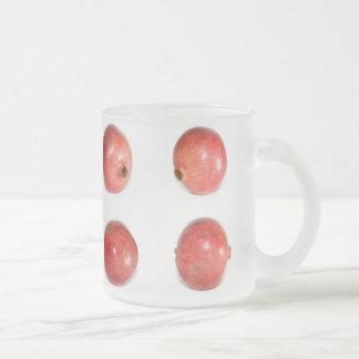 Frutas de la granada taza de cristal