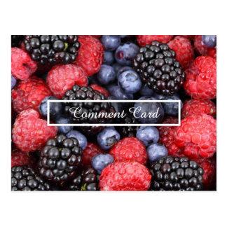 frutas de la tarjeta del comentario tarjeta postal