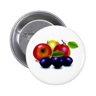 Frutas de las frutas y frutas pins