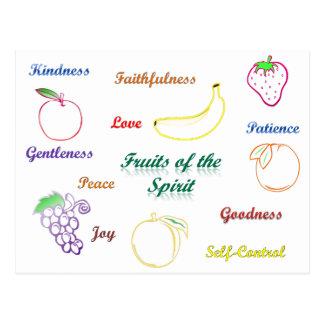 Frutas del alcohol tarjeta postal
