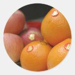 Frutas del boda pegatinas redondas