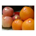 Frutas del boda postales
