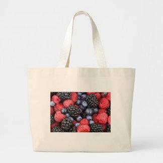 Frutas del bosque bolsa tela grande