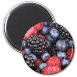 Frutas del bosque iman para frigorífico