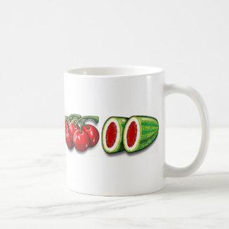 Frutas del carrete taza clásica