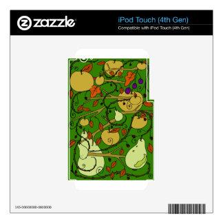 Frutas del otoño calcomanías para iPod touch 4G