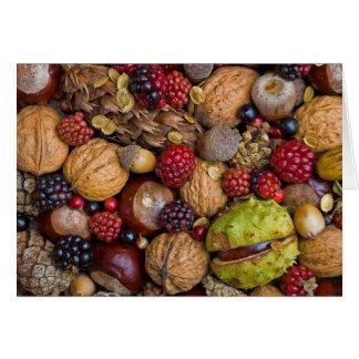 Frutas del otoño tarjeton