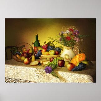 Frutas del poster de la vida