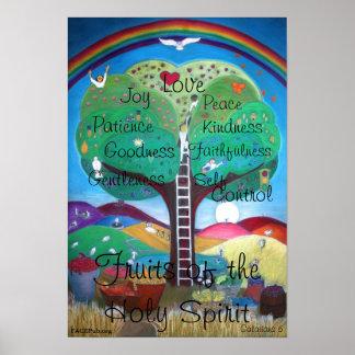 Frutas del poster del Espíritu Santo