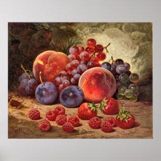 Frutas del verano impresiones