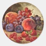 Frutas del verano pegatinas redondas