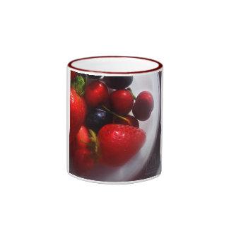 Frutas del verano tazas de café