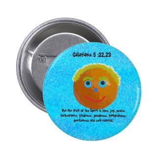 Frutas divertidas del Pin del naranja del alcohol Pin Redondo 5 Cm