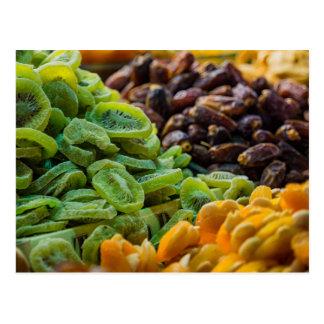 Frutas en un bazar en Estambul (Turquía) Tarjetas Postales