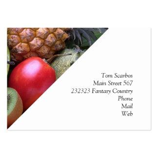 frutas exóticas tarjetas de visita grandes