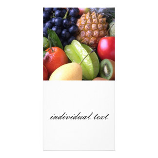frutas exóticas tarjeta personal con foto