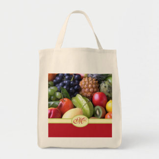 Frutas frescas deliciosas naturales jugosas cones  bolsa de mano