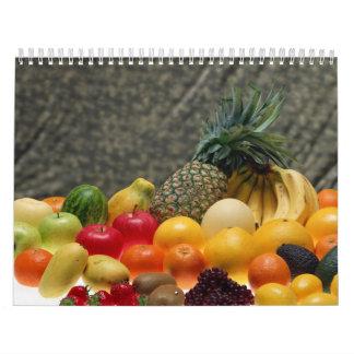 Frutas frescas calendario de pared