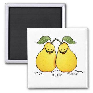 Frutas gemelas - pares perfectos imán de frigorífico